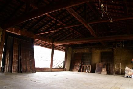 蚕部屋の片付け | 古民家リノベーション